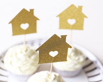 New House Party Cupcake Topper/Housewarming Party Cupcake Topper/table decorations/