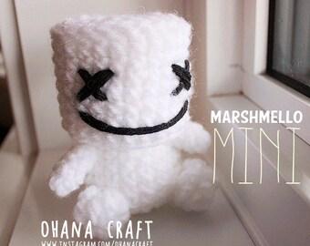 Free Shipping -Marshmello mini inspired crochet doll, Marshmello mini Plushies -Made to order-