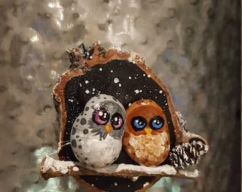 Winter Owl Magnet - 028