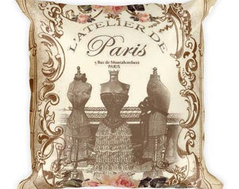 Paris Atelier Square Pillow