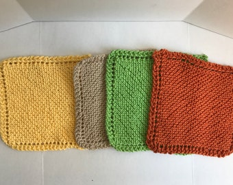 Knitted dish cloth wash cloth dish rag wash rag