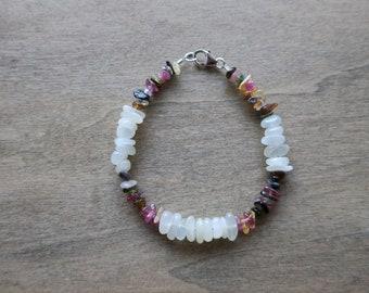 moonstone tourmaline bracelet