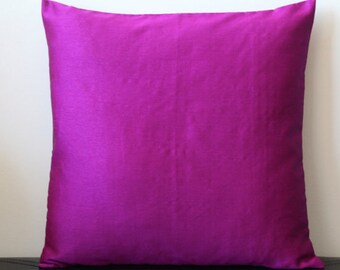 Purple Pink Pillow Cover Solid Pillow Purple Pink Throw Pillow Outdoor PIllow Purple Pink Cushion Decorative Pillow Summer Pillow 18x18