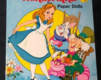 1976 Walt Disney Alice in Wonderland Paper Dolls