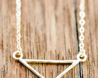 Leonani Necklace - Gold Triangle Necklace, Gold Necklace, Gold Layering Necklace, Gold Filled Necklace, Strand Necklace, Minimal, Hawaii