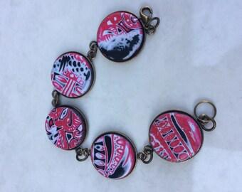 Red polymer bracelet