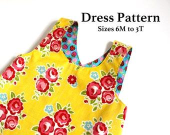 Baby Dress Pattern - Dress Pattern - PDF