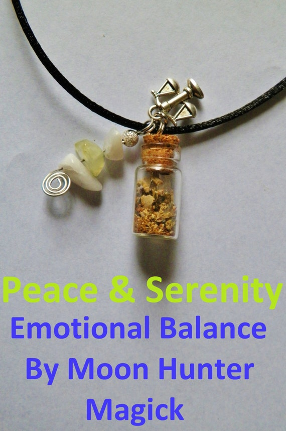 Peace & Serenity Charm Bottle Amulet Necklace 20+ yrs exp