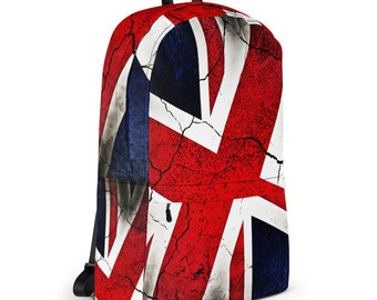 Union Jack Punk Grunge British Flag Backpack
