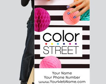 Personalized Color Street Banner