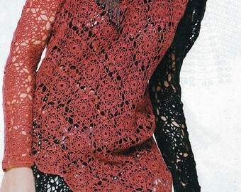Crochet lace tunic PATTERN, designer crochet tunic PATTERN, PDF pattern tunic boho crochet pattern,crochet pattern Crocheting