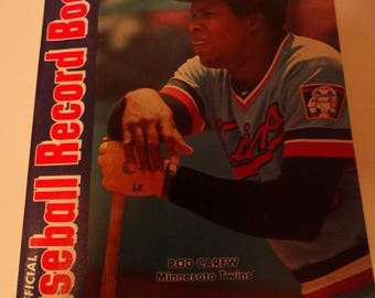 1976 Official Baseball Record Book,  Published by the Sporting News, Rod Carew, Minnesota Twins, Baseball Averages, Records, Stats