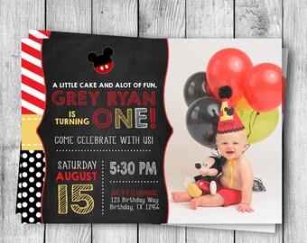 Mickey Mouse Birthday Invite - 5x7