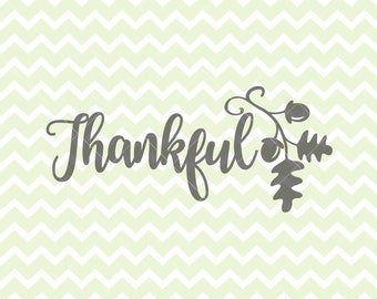 Thankful SVG & PNG, Thanksgiving SVG, Thanksgiving Clipart, 99 Cent, Fall Clipart, Fall svg, Commercial Use Clipart, Cricut Explore
