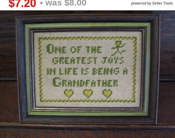 Grandfather Framed Cross Stitch One of greatest joys in life Family Framed Cross Stitch Gift for Grandfather Granddad Grandparents Day