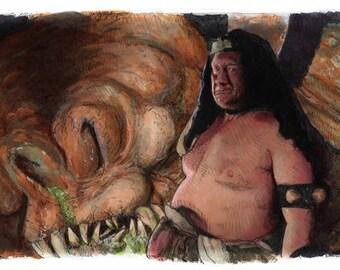 Star Wars- Return of the Jedi - Rancor Keeper Poster Print