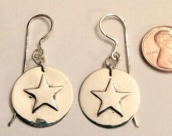 Big Star Sterling Silver Earrings