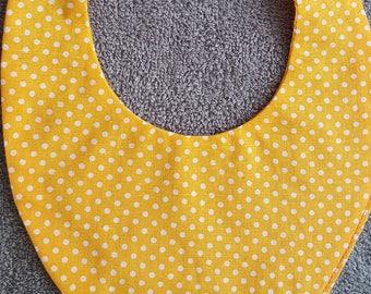 """Yellow """"confetti"""" 0-3 months baby bandana bib"""