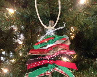 Ribbon Tree Ornaments - Set of Five