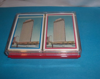 REMEMBRANCE PLAYING CARDS 50s Bridge Cards Germ-Proofed Security Life Building