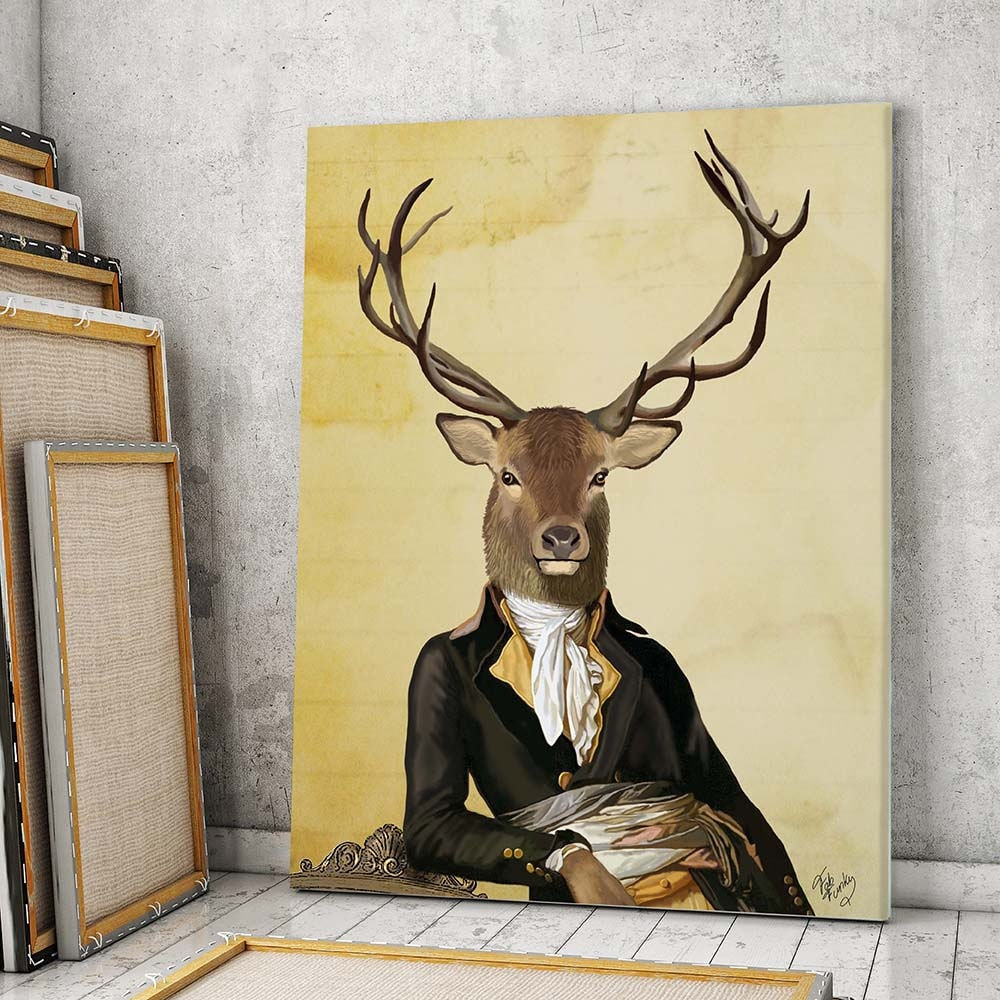 Large canvas art prints on canvas Large wall decor Deer and