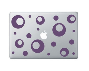 Funky Donut Laptop Decal - Polka Dot Macbook Stickers - Laptop Sticker - Macbook Decal