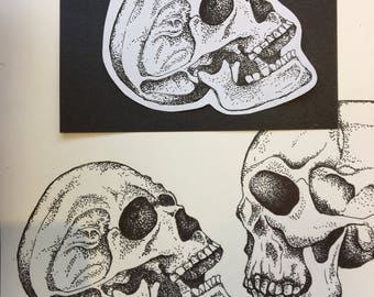 Stippled Skull (Small)