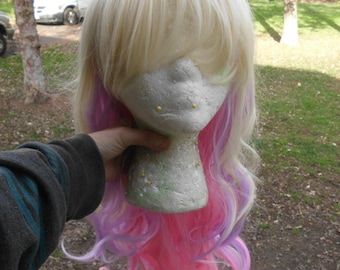 Princess Cadance Wig, Pink, Blonde, Blond, Purple, MLP, Cadence, zipper wig, curly, cosplay, Multicolor Wig Long My Little Pony, bangs