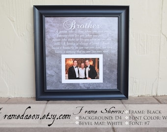 Brother Memorial Frame -  Brother - Sympathy Gift - In Memory of - Funeral Gift - Personalized Memorial Gift - Memorializing Frame - 15x15