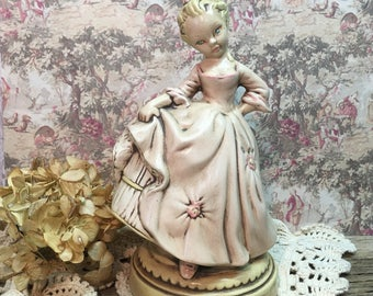 Vintage Holland Mold Figurine/Girl/Pink/Victorian