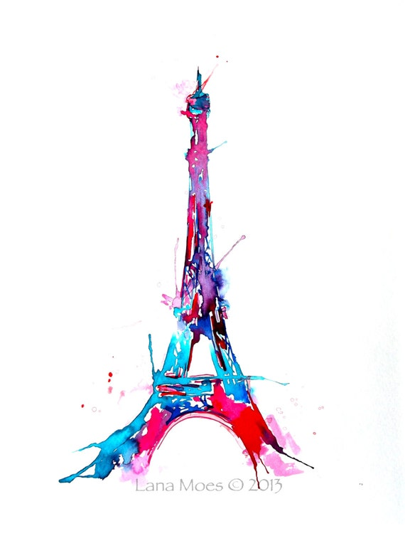 Préférence Eiffel Tower Wall Art Print Paris illustration Paris lover DX83