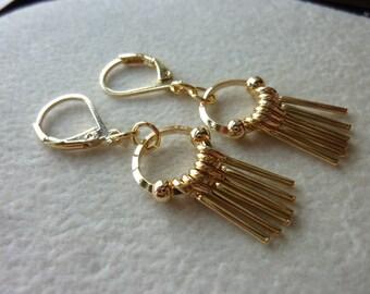 Small Plain Dangle Bars Earrings