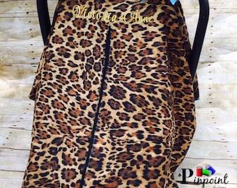 Cheetah car seat canopy