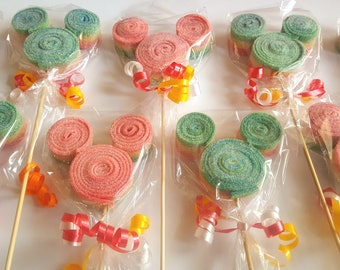 12 Mickey Mouse Candy Kabobs Individually Bagged Party Favors