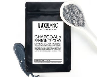 Activated Charcoal & Bentonite Clay Dry Face mask  | 100% Australian Made
