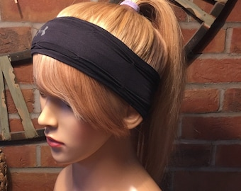 Full coverage Headband & hair..side fringe style for running/exercising, available in straight human hair.