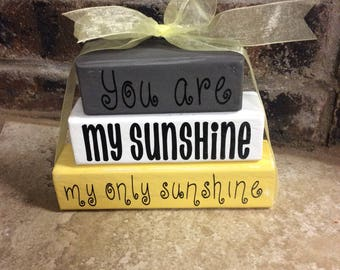 You are my sunshine mini blocks