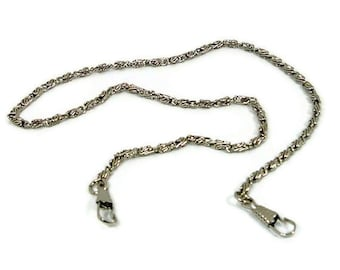 47 Inch Nickel Purse Chain With Hooks FREE U.S. SHIPPING