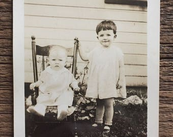 Original Vintage Photograph The Youngsters