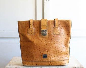 vintage large Dooney and Bourke ostrich bag