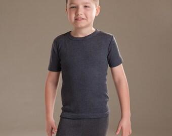 OCTAVE® Boys Thermal Underwear Short Sleeve T-Shirt / Vest / Top