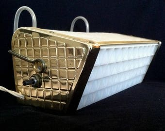 50s MCM Atomic Fiberglass Headboard Lamp Works Great Excellent Condition Adjustable 1960s Vintage