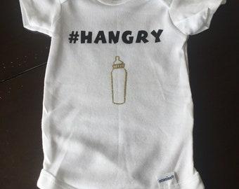 Hangry baby onesie bottle so cute