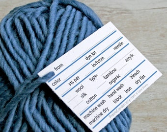 pdf Yarn Tags in bold jewel tones print at home