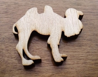 Small Camel Wood Cutouts - Shapes for Projects or Other Use