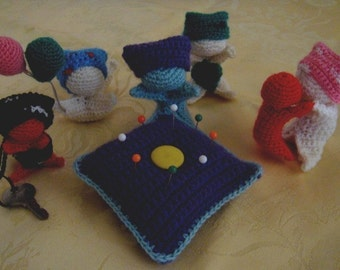 Sarubobo Japanese Charm Dolls amigurumi crochet pattern pdf