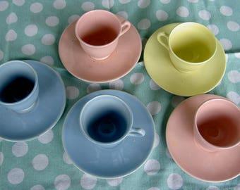 Lu-Ray Pastels demitasse set of five