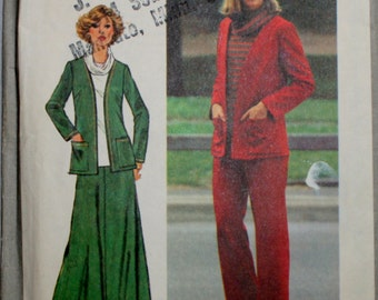 Simplicity 8210 Misses Pants, Long Skirt, Jacket, Top Sewing Pattern Uncut Size: 10.5, 12.5
