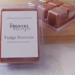 Fudge Brownie Scented 100% Soy Wax Clamshell Melt - Rich Chocolate Scent - Maximum Scented