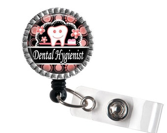 Dental Hygienist ID Badge Reel, Retractable ID Holder